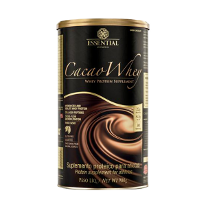 cacao whey 900g essential nutrition