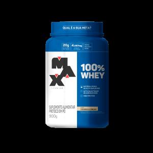 100% whey protein 900g max titanium