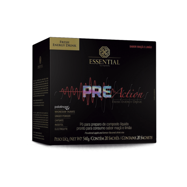 Pre Action Energy Drink (20 saches) Essential Nutrition
