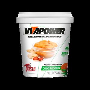 pasta integral de amendoim coco protein